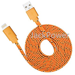 Lightning cable, Jackpower MFI Certified Lightning USB Nylon Braided Charging Cable 10ft Extra Long Cord for Iphone 6s 6