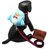 Alfie Pet By Petoga Couture - Cara Backpack Harness With Leash And Microfiber Fast-Dry Washcloth Set - Style: Blue Pengu