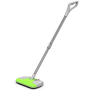 Cordless Electric Carpet Sweeper Vac Floor Vacuum Cleaner with Extendable Pole - Apple Green