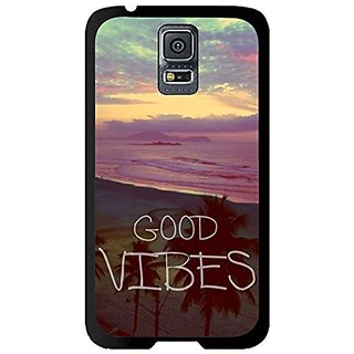 Color.Dream Good Vibes Snap On Hard Plastic Back Case Cover Phone Protective Case for Samsung Galaxy S5 i9600