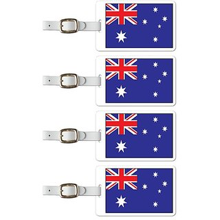 Tag Crazy Australia Premium Luggage Tags Set Of Four, Red, One Size