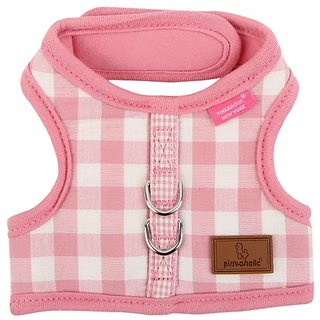 Pinkaholic New York Motley Pinka Harness for Dogs, Pink, Large