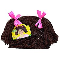 Cabbage Patch Kids Childs Dress-Up Knit Beanie Wig With Brown Pigtails