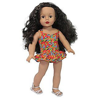 Ari and Friends I Want Candy Bathing Suit Colorful Gummy Worms print Fits American girl 18 inch Dolls (Doll Not Included