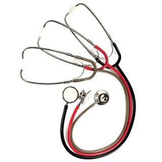 Welch Allyn 5079-74 Lightweight Double-Head Stethoscope, Poppy Red
