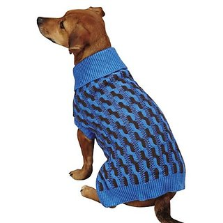 Zack & Zoey Color Twist Sweater, Small/Medium, Blue