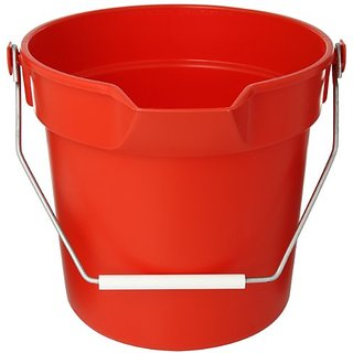 Impact 5510R High Density Polypropylene Deluxe Heavy-Duty Bucket, 10 qt Capacity, 10-1/4