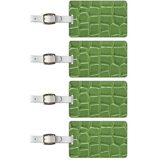 Tag Crazy Alligator Premium Luggage Tags Set Of Four, Green, One Size