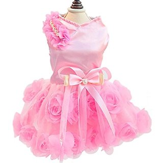 BBX Deals Doggy Pet Dog Clothes Party Summer Dress Rose Wedding Dress Dog Pet Puppy Clothing Dog Fashion Dress EUB Trans