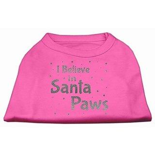 Mirage Pet Products Screen Print Santa Paws Pet Shirt, Small, Bright Pink