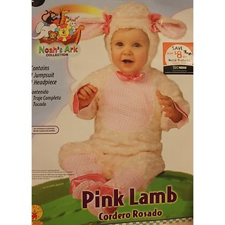 PINK LAMB - BABY COSTUME (INFANT 0-6 Mo)