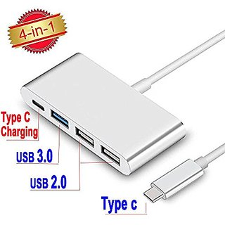 USB-C 3.0 Type C Adapter, SUPVIN Multiport USB C Converter for New MacBook, ChromeBook Pixel Devices Nokia N1, Nexus 6/6