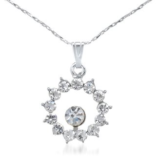 The99Jewel By Jewelmaze Zinc Alloy Silver Plated Austrian Stone Pendant With Chain -AAB0691