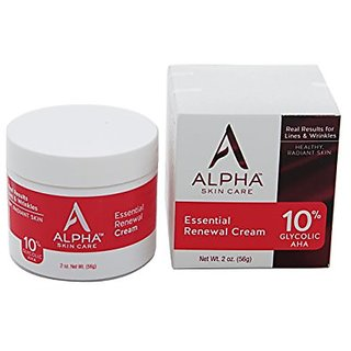 Alpha Skin Care Essential Renewal Cream 10% Glycolic AHA, 2 Ounce