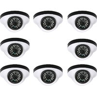 EwareHD Security Camera CCTV Night Vision Dome 8 PCS Camera 1000TVL With 1 Year Warranty (8 PCS CAMERA)