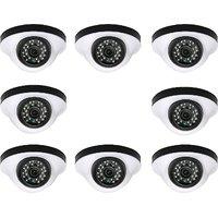 EwareHD Security Camera CCTV Night Vision Dome 8 PCS Camera 1000TVL With 1 Year Warranty (8 PCS CAMERA)