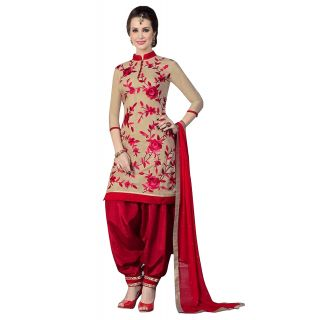 Ethnic Basket Off White Printed Crepe Unstitched Dress Material