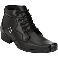Shoe Day Men Black Lace-Up Formal Shoes - 101199204