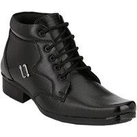 Shoe Day Men Black Lace-Up Formal Shoes - 101199204