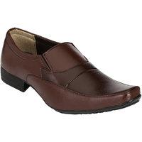 Shoe Day Men Brown Slip On Formal Shoes