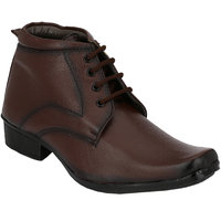 Shoe Day Men Brown Lace-Up Formal Shoes - 101199395