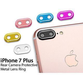 Apple iPhone 7+ Iphone 7 Plus Ultra thin Rear Camera Lens Protector Aluminum Protective Ring (Black)