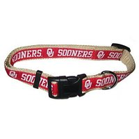 Mirage Pet Products Oklahoma Sooners Collar For Dogs And Cats, Small
