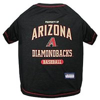 Pets First MLB Arizona Diamondbacks Dog Tee Shirt, Small
