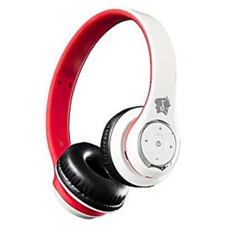 Life n Soul BN301-WR Bluetooth Headphones, White & Red