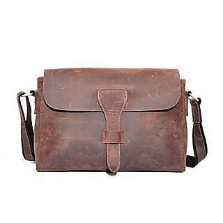 Kattee Womens Vintage Genuine Leather Messenger Shoulder Bag