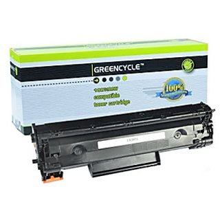 GREENCYCLE Black Laser Toner Cartridge Compatible for HP Laserjet CE285A (85A) P1102W M1130 M1210 Pack of 1