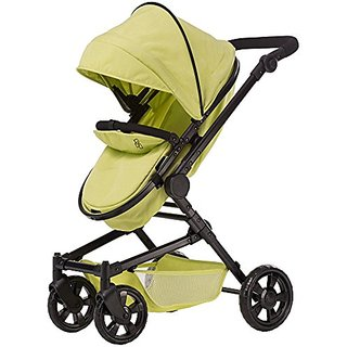 Triokid Baby Doll Stroller Sportline X1 Lemon Green Drawable Fabric with Swiveling Wheels & Adjustable Handle
