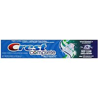 Crest Complete Whitening Plus Deep Clean Toothpaste - Effervescent Mint, 5.8 Oz (Pack Of 24)