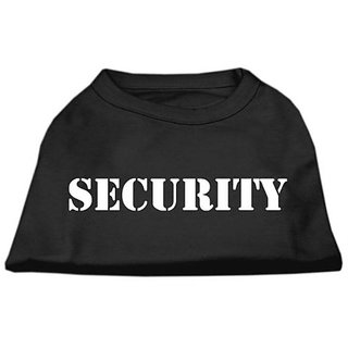 Mirage Pet Products 8-Inch Security Screen Print Shirts for Pets, X-Small, Black with White Text
