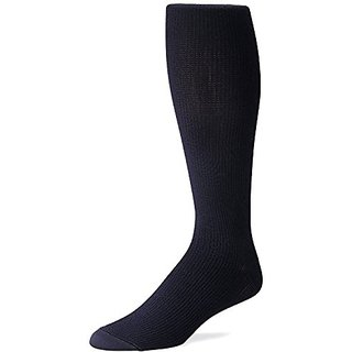 FUTURO Graduated Compression Casual Socks for Men, Black, Large, 2 Count