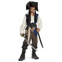 Disguise Disney Pirates Of The Caribbean Captain Jack Sparrow Deluxe Child Boys Costume, Medium/7-8