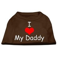 Mirage Pet Products 16-Inch I Love My Daddy Screen Print Shirts For Pets, X-Large, Brown