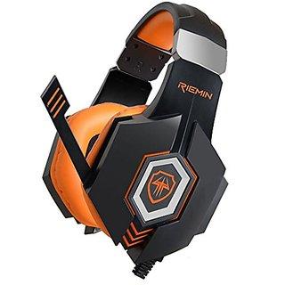 G968S Black Orange, 3.5mm, USB Orange LED Lit Headsets, Headphones, Earphones With Noise Cancelling & Volume Control (Do