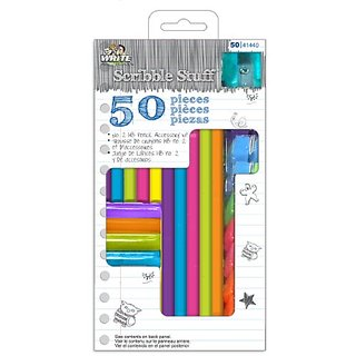 Write Dudes 50-Piece Pencil and Accessory Kit, Assorted Colors (CXY99)