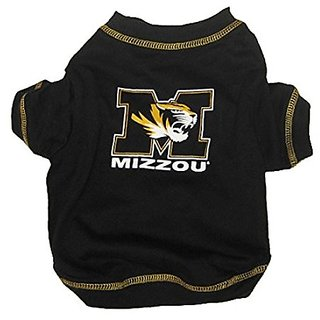 Pets First Collegiate Missouri Tigers Dog Tee Shirt, Large