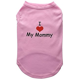 Mirage Pet Products 14-Inch I Love My Mommy Screen Print Shirts for Pets, Large, Pink