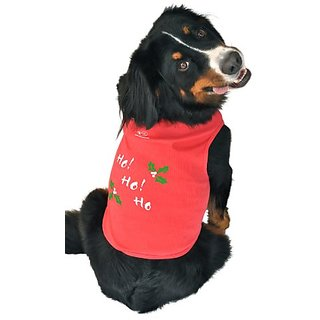 Doggie Tank Top, Ho! Ho! Ho!, Red, Medium