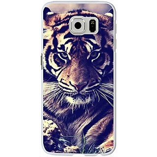 S6 Case Samsung Galaxy S6 Hard Case Viwell 2015 New Unique Design Personalized Cool Protective Cover Tiger Head