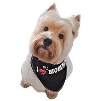 Ruff Ruff And Meow Doggie Bandana, I Love My Mommy, Black, Medium