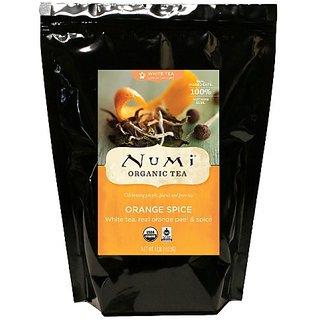 Numi Organic Tea White Orange Spice, White Tea, Loose Leaf, 16 Ounce Bulk Pouch