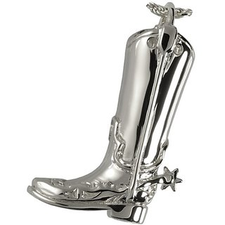 Memorial Gallery 3312p Cowboy Boot Platinum (Allow 4-5 Weeks) Cremation Pet Jewelry