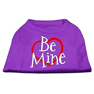 Mirage Pet Products 10-Inch Be Mine Screen Print Shirt for Pets, Small, Purple