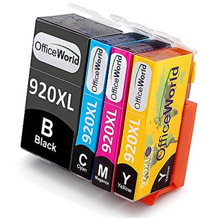 Office World 1 Set Replacement For HP 920XL Ink Cartridge ,Compatible with HP Officejet 6500 6000 7000 7500 6500A 7500A