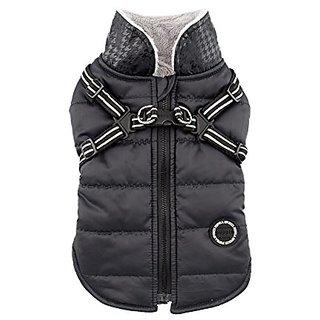 Puppia Authentic Winter Storm Winter Vest, X-Large, Black