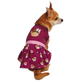 East Side Collection ZM3488 08 14 Monkey Business Dress for Dogs, XX-Small, Tiff